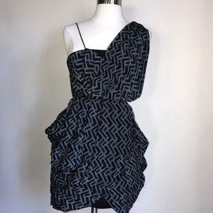 Alexander McQueen MC silk small dress grey black